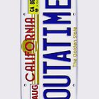 Outatime License Plate Back To The Future iphone 5, iphone 4 4s, iPhone 3Gs, iPod Touch 4g case by Pointsale store.com