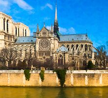 Notre Dame de Paris on the Seine by Mark Tisdale