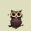 Cute Retro Coffee Kawaii Owl iphone 5, iphone 4 case or iphone 4s case by Pointsale store.com