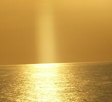 Sun beaming down on the gulf by 13joanb