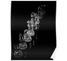 Glass Chess Pieces Poster