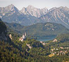 neuschwanstein and hohenschwangau by shannon browning