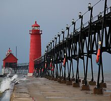 Grand Haven Lighthouse by Michael L. Colwell
