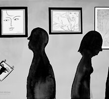 i went to the Matisse exhibition and took some paper just like Donna did. by Loui  Jover