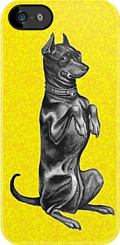 Begging Dog - iPhone case by KenRinkel