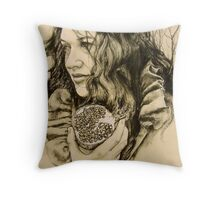 """""""Abduction of Persephone"""" section 2 of diptych Throw Pillow"""