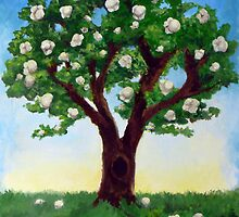 Popcorn Popping on the Apricot Tree by Jewel  Charsley