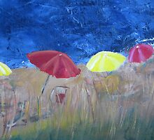 Beach Umbrellas by zooberhood