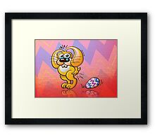 Painful Easter Bunny Job! Framed Print