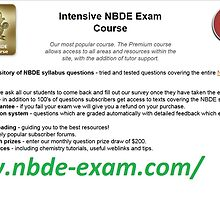 NBDE Exam | NBDE Courses | NBDE Syllabus | NBDE Test | NBDE Questions by kingpars6