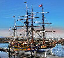 The Fantasy of Tall Ships by linaji