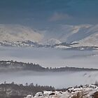 Inversion over snowy lake Windermere by CumbrianRambler