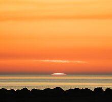Sunset Ayrshire coast by Derek Moffat