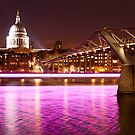 St. Paul's Cathedral with a splash of colours by Gabrel