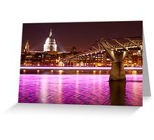 St. Paul's Cathedral with a splash of colours Greeting Card
