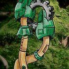 Green Steampunk Mushrooms by NuttyRachy