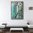 Painting &quot;Cherry Tree&quot; Displayed in Setting by Carrie Jackson