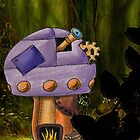 Purple Steampunk Mushroom by NuttyRachy