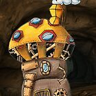 Yellow Steampunk Mushroom by NuttyRachy
