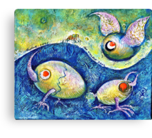 The Flying Egg Canvas Print