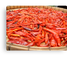 Sun-dried Thai Red Chillies Canvas Print
