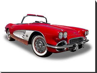 Chevrolet - 1961 Corvette Roadster Convertable by axemangraphics