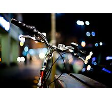 bicycle@night Photographic Print
