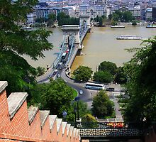 Budapest Castle Hill Funicular by Anatoly Lerner