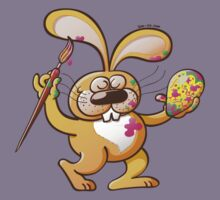 Easter Bunny Painting an Egg Kids Clothes