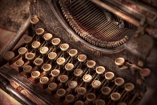 Steampunk - Typewriter - Too tuckered to type by Mike  Savad