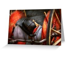 Fireman - Hat - South Plainfield Fire Dept Greeting Card