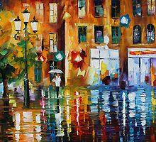 RAINY CITY - LEONID AFREMOV by Leonid  Afremov