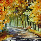 UNDER THE ARCH OF AUTUMN  - LEONID AFREMOV by Leonid  Afremov