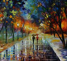 WINTER PARK  - LEONID AFREMOV by Leonid  Afremov