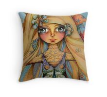 dolphin dreaming Throw Pillow