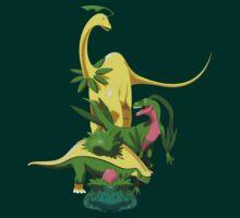 Pokesaurs - Grassiosaurs by trekvix