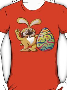 Easter Bunny Proud of his Big Decorated Egg T-Shirt