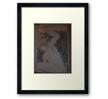 Drawing: Narcissus/1 of 4 -(260312)- black ink/A5 sketchbook/digital photo Framed Print