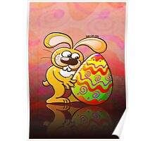 Easter Bunny Falling in Love Poster