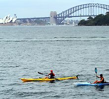 Kyaking Sydney harbour by jozi1