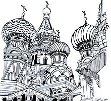St.Basil's Cathedral in Russia by hasie
