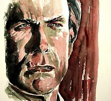 Clint Eastwood, featured in Art Universe, Best of Redbubble by FDugourdCaput
