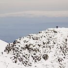 Climbers over a snowy Striding Edge by CumbrianRambler