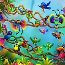 Birdies of Paradise by murals2go