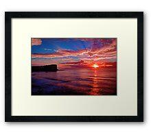 Hot Avalon Sunrise Framed Print