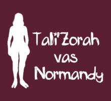 Tali'Zorah  vas  Normandy by SallyDiamonds