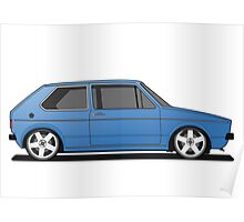 Volkswagen Golf Mk1 - Blue Poster