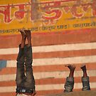 Doing Yoga on the Ghats by SerenaB