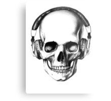 SKULL HEADPHONES Metal Print