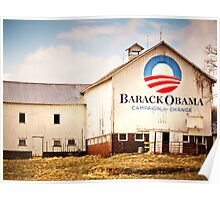 Barack Obama Presidential Campaign Barn Poster